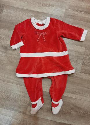 Оригинальный новогодний костюм, человечек, ромпер для девочки.