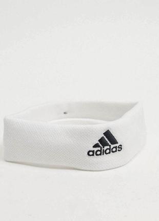 Белая повязка на голову для тенниса бандана