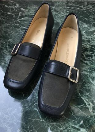 Шкіряні туфлі, 36 розмір, claudio morlacchi, італія