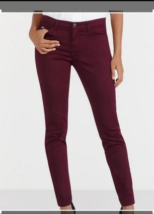 Джинсы hampton republic брюки скинни штаны марсала s 44 28