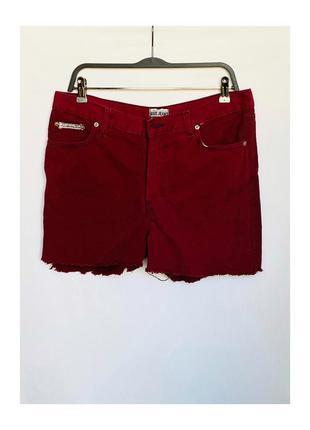 Короткие бордовые джинсовые шорты calvin klein оригинал