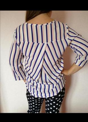Блуза блузка нарядная в полоску кофта