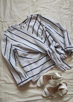 Оригинальная блузка в полоску