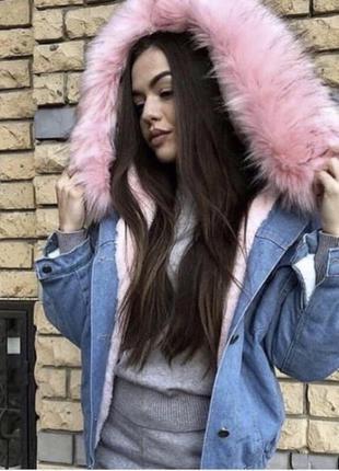 Куртка джинсовая на меху с мехом зима ❄️ зимняя