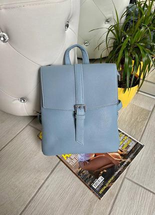 ❤️  рюкзак-сумка style на 3 отдела (формат а5) голубой