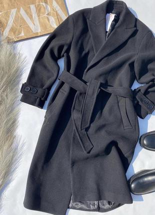 Шерстяное пальто от stradivarius