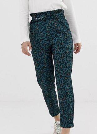 Модные брюки paperbag интересной расцветки