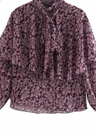 Блуза с бантом зара