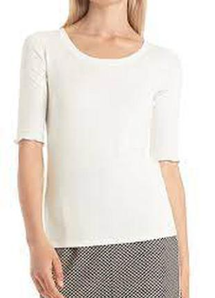 Белая базовая футболка marc cain