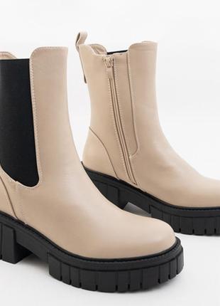 Бежевые женские ботинки lem