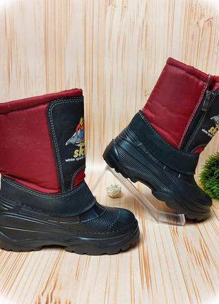 Сапоги теплые, дутики, прорезиненные сапоги, ботинки, зима