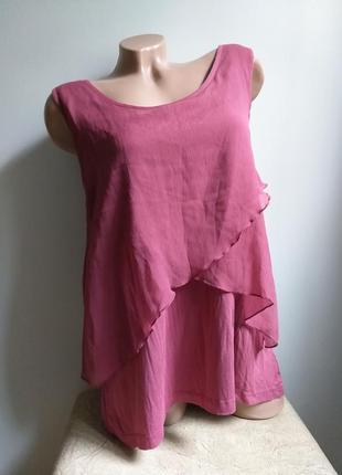 Футболка. туника. блуза. майка разлетайка. вереск, пыльный розовый.