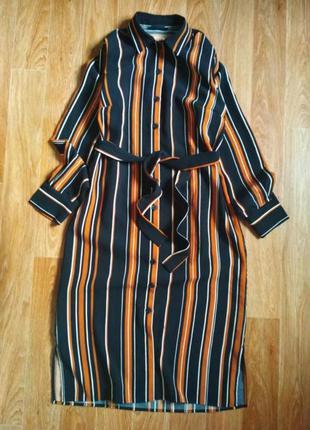 Актуальное платье рубашка с поясом