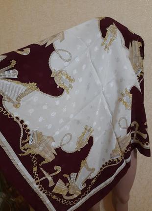 Шикарный шелковый платок принт музыкальные инструменты