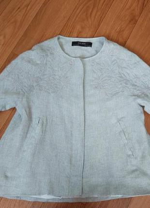 Трендовый пиджак,zara,рукав волан