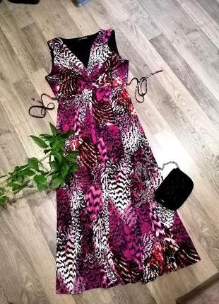 Шикарное длинное платье сукня с поясом. david emanuel