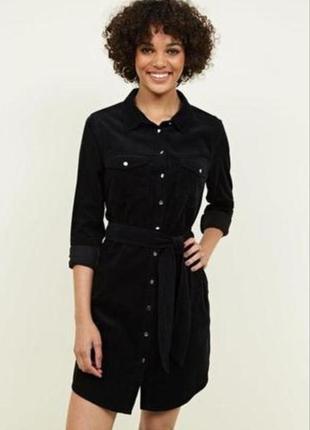 Вельветовое платье рубашка new look