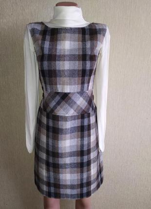 Фирменное платье сарафан, полушерсть ,р.38-40