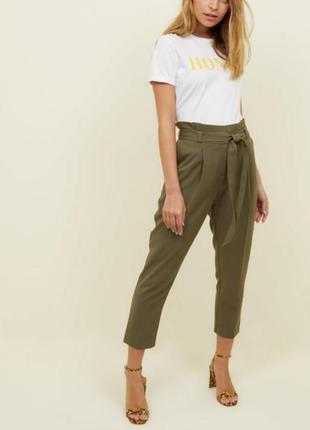 Стильные осенние брюки высокая посадка на низкий рост