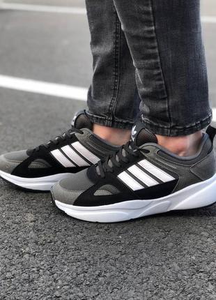 Мужские /унисекс серые кроссовки adidas осень демисезон