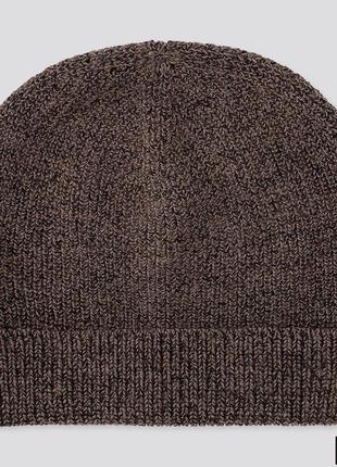 Вязаная шапочка uniqlo в составе шерсть