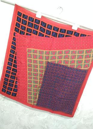 Винтажный шелковый японский платок marja kurki