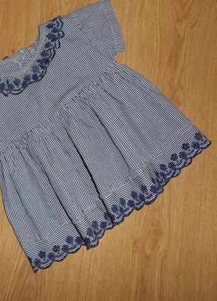 Летнее платье, сарафан, marks&spencer, 0-3 мес. 62 см, оригинал