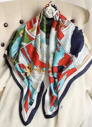 Платок на шею, платок на голову