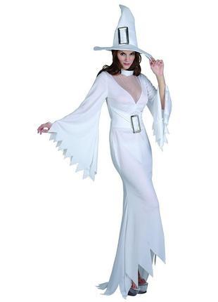 Платье белой ведьмочки на хеллоуин.