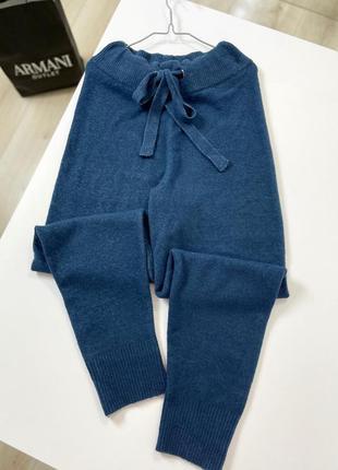 Штаны джогеры с мягкой шерсти zara высокая посадка