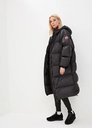 Новый пуховик оверсайз colmar италия куртка унисекс длинный зима 90% пух непромокаемый
