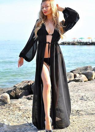 Парео пляжное, накидка на купальник, пляжный халат