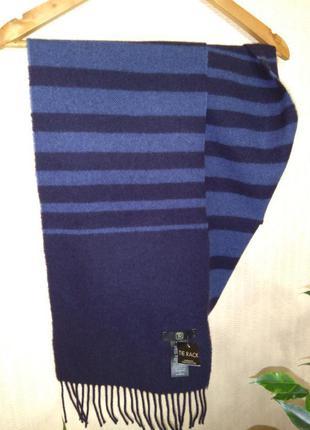 Шерстяной шарф в полоску tie rack (шотландия) 100% шерсть