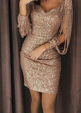 Блестящее платье в паетку