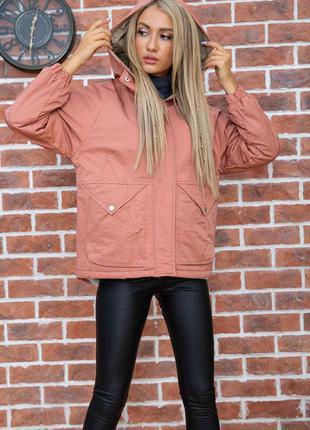 Актуальная теплая зимняя женская куртка на меху уютная женская куртка оверсайз утеплённая женская куртка с мехом свободная женская куртка на зиму