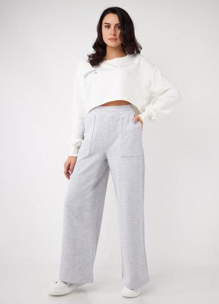 Тёплые широкие штаны