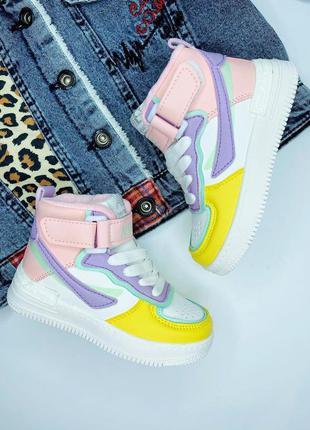 Детские утеплённые хайтопы, высокие кроссовки, спортивные ботинки на девочку