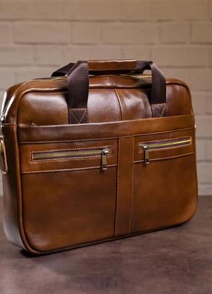 Мужская коданая сумка коричневая