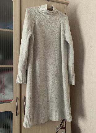 Трендовое платье-свитер