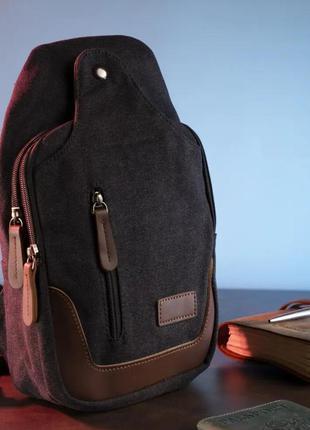 Мужская сумка через плечо текстильная