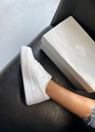 Женские кроссовки nike air force 1 low white '07