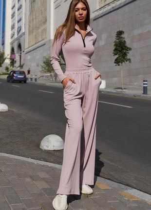 Брюки-кюлоты джингл пудра jadone fashion