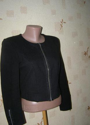 H&m пиджак на молнии хлопок m-l размер