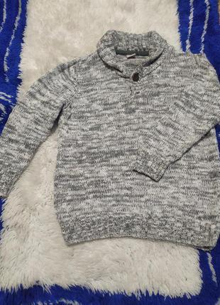Вязаный теплый свитер, кофта, на мальчика 4 года