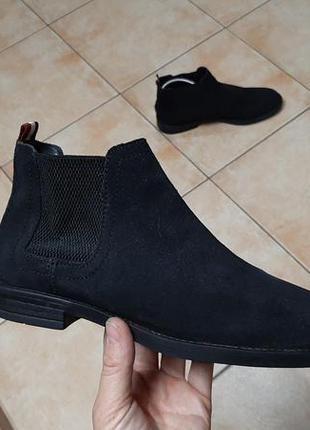 Замшевые челси,ботинки,сапоги tommy hilfiger (томми хилфигер)