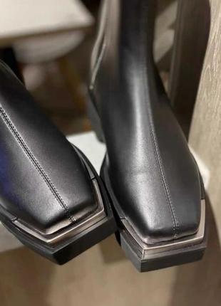 Черевики жіночі з натуральної шкіри, на низькому ходу, чорні, angelo vani.