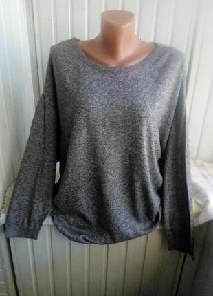 Тонкий свитер джемпер большого размера батал,