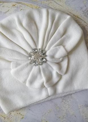 Красивейшая шапка с декором, можно носить как чалму