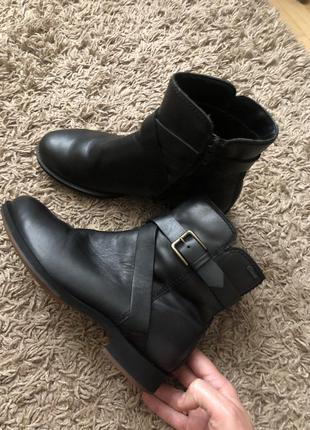 Шкіряні черевички ecco 37-38 роз🔥🔥