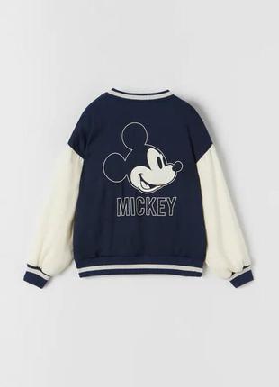 Легка куртка-бомбер mickey mouse, zara, оригінал, з німеччини!